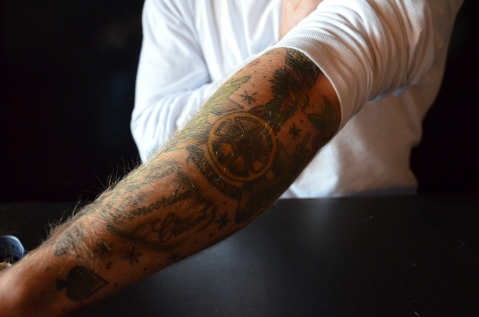 Corcoran's Arsenal cannon tattoo